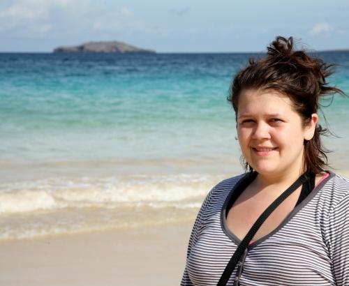 Floreana Island, Galapagos, Looking for sea turtles
